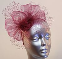 Small purple/wine ladies' fascinator 16358/SD610/1